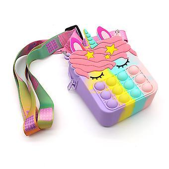 Push Pop It Bag Fidget Toy Sac à bandoulière Poppet Bag Sac à main