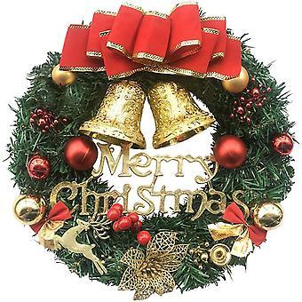 Świąteczny wieniec Wesołych Świąt Dekoracja drzwi wejściowych Ściana Sztuczny wieniec