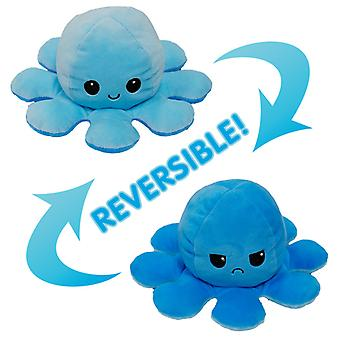 Caraele Cute Plush Animal Reversible Octopus Plush Toy Double-sided Clamshell Doll