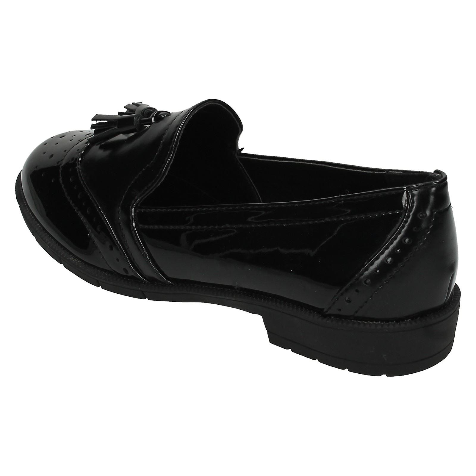 Ladies Spot On Loafer Style Shoes F80122 1ycMk