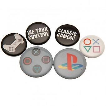 PlayStation knop Badge Set