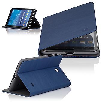 Delgado ángulo funda para Samsung Galaxy Tab 4 T230 (7 pulgadas) - Deep Blue