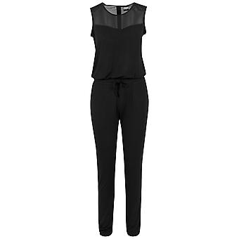 Urban Classics Ladies - TECH MESH Long Jumpsuit schwarz