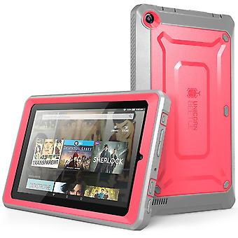 Amazon Fire 7 Case, Supcase, Unicorn Beetle Pro, Rugged Hybrid Protective Cover, Amazon Fire 7 Case-Pink/Gray