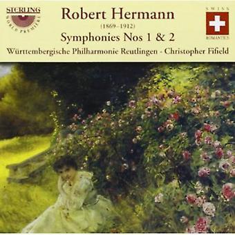Robert Hermann - Robert Hermann: Symphonies Nos. 1 & 2 [CD] USA import