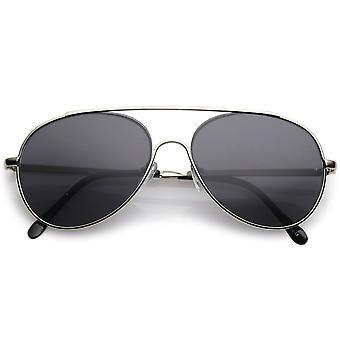 Classic Metal Aviator Okulary poprzeczka Slim broni łzy obiektyw 55mm