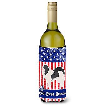الولايات المتحدة الأمريكية الوطنية اليابانية الذقن زجاجة النبيذ بيفيرجي عازل نعالها