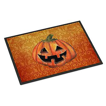 October Pumpkin Halloween Indoor or Outdoor Mat 18x27 Doormat
