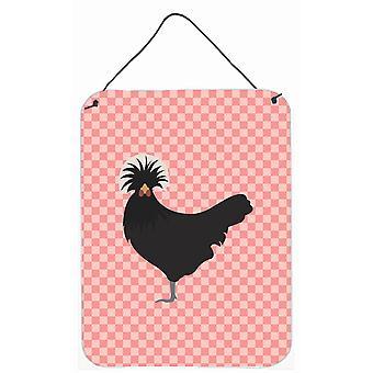 Pologne polonais poulet rose cocher mur ou porte suspendue imprime