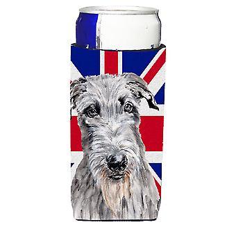 Scottish Deerhound con inglese Union Jack bandiera britannica bevande Ultra isolante