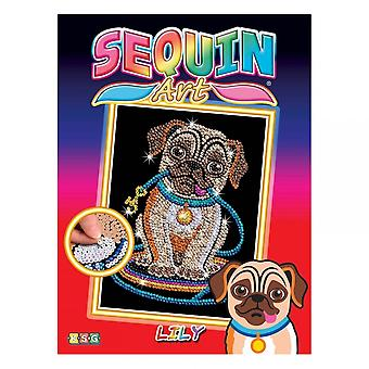 Sequin Art Pug Sequin Art