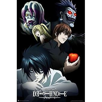 DeathNote personajes - Anime Poster Poster Print