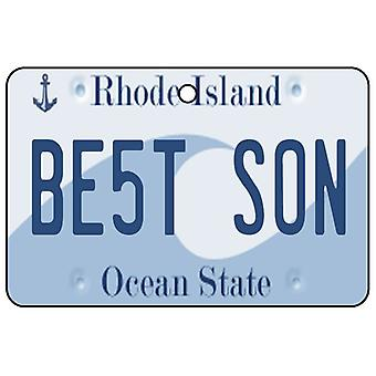 Rhode Island - Best Son License Plate Car Air Freshener