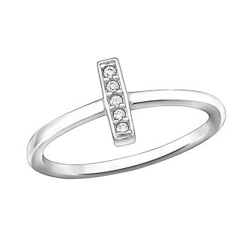 Bar - 925 Sterling Silver Jewelled Rings - W30529X