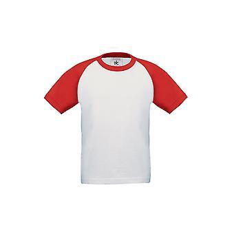 B&C Childrens Boys Short Sleeve Baseball T-Shirt