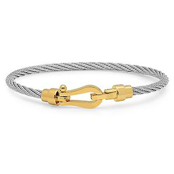 Dames 18K goud vergulde RVS draad armband