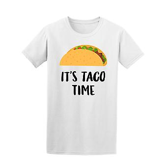 Hand Drawn Taco Its Taco Time Tee Men's -Image by Shutterstock