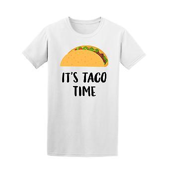 Hand gezeichnet Taco seinen Taco Zeit Tee Männer-Bild von Shutterstock
