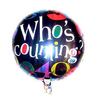 Folie ballong som räknar födelsedag