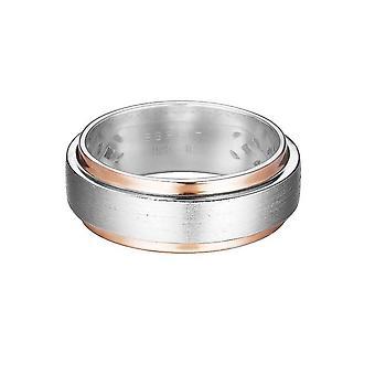 Esprit Damen Ring Silber Rosé Bicolor Modern Shape ESRG92278B1