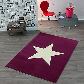 Création de tapis de velours Star Violet 140 x 200 cm | 102200