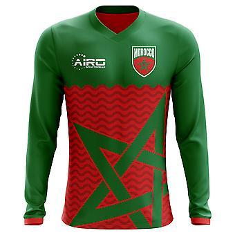 2020-2021 Morocco Long Sleeve Home Concept Football Shirt (Kids)