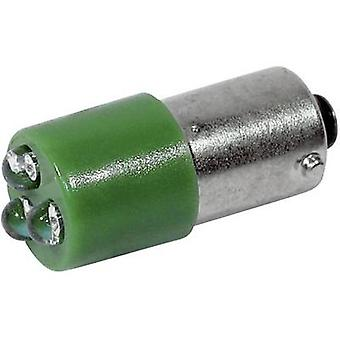 CML LED indicator light BA9S Green 230 V AC 450 mcd 18626231