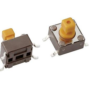Mentor 1254.1207 Pushbutton 12 V DC 0,05 A 1 x Off/(On) momentâneo 1 pc (s)
