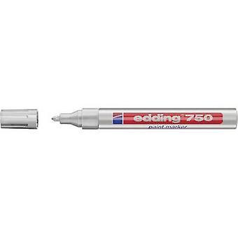 Edding 4-750054 تحرير 750 علامة الطلاء علامة الطلاء الفضة 2 ملم، 4 ملم 1 أجهزة الكمبيوتر / حزمة