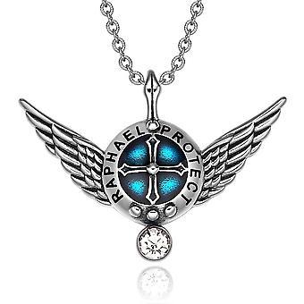 大天使ラファエル天使の翼シールド保護魔法の力お守りペンダント ネックレス