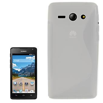 Téléphone portable Etui de silicone (courbe en S) pour mobile Huawei Ascend Y530 transparent