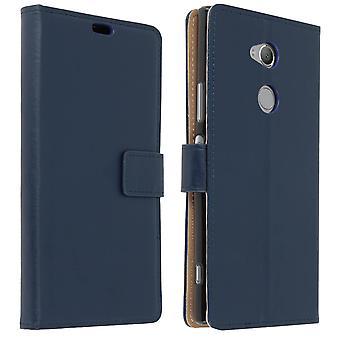 Slim Case, flip van boekomslag, portemonnee geval staan voor Xperia XA2 Ultra - donkerblauw