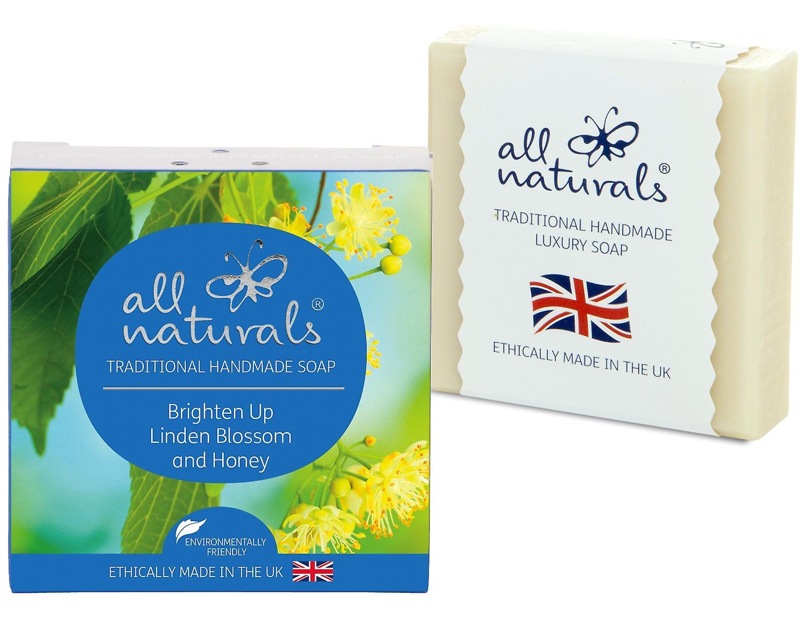 Alla Naturals organisk tvål lindblomma och honung 100g.