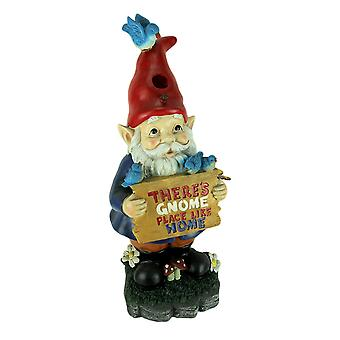 Gnome Place Like Home Garden Gnome Birdhouse Statue