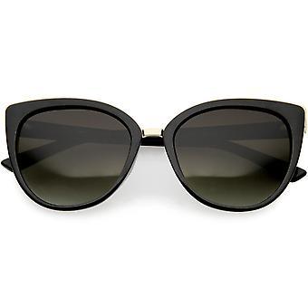 Women's Cat Eye Sunglasses Metal Trim Polarized Lens 54mm