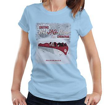 Official Volkswagen Driving Ho Ho Home For Christmas Women's T-Shirt