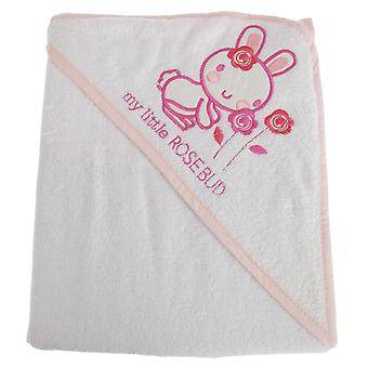 Snuggle Baby Baby Girls My Little Rosebud Hooded Towel