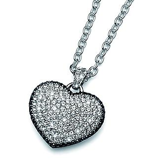 Oliver Weber Pendant Crystal Love Rhodium Crystal