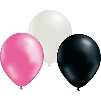 Balloons mix 24-pack Pink, White and Black
