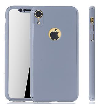 Apple iPhone skydd fallet full täcker tank skydd glas grå XR mobil fall