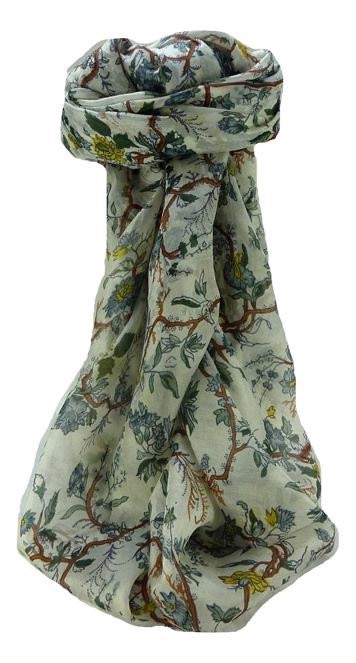 Mulberry Silk Contemporary Square Scarf Floral F213 by Pashmina & Silk