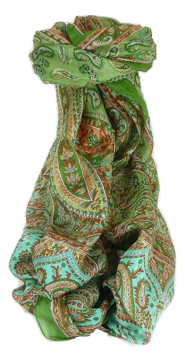 Mulberry Silk Traditional Long Scarf Dixit Sage by Pashmina & Silk