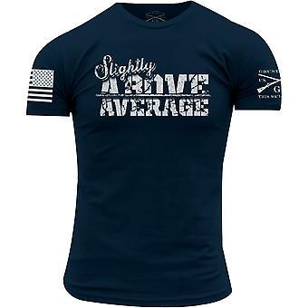 Grunhido estilo ligeiramente acima média Crewneck t-shirt-Marinha
