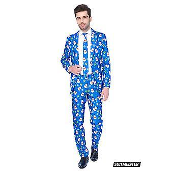 Costume de bonhomme de neige bonhomme de neige Noël bleu Suitmeister slimline ensemble 3 morceaux d'économie