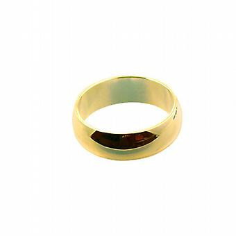 9 قيراط الذهب 7 ملم عادي د على شكل Z حجم خاتم الزواج