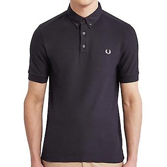 Fred Perry M4541 Oxford trim Pique Polo Marine