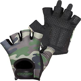 Contraband Sports 5217 Pink Label Camo Weight Lifting Gloves - Green