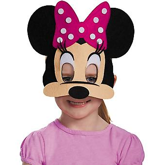 Felt Mask Minnie Mouse Pink