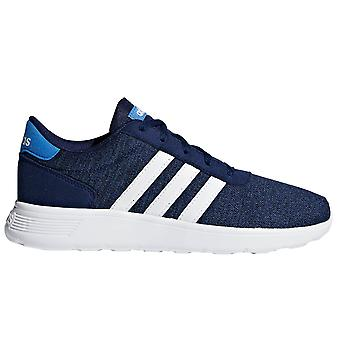 Adidas Lite Racer Kids jongens Lace Up sport Trainer schoen Navy Blue