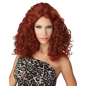 Bodacious Waves 1970s 1980s Disco Groovy Red Star Women Costume Wig